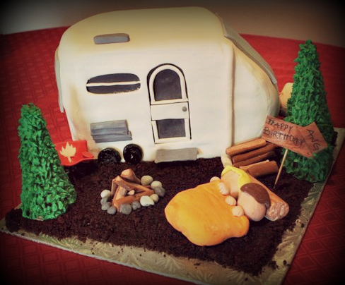 Wonderful The Camper Decorations Were All Hand Painted With Food Coloring And