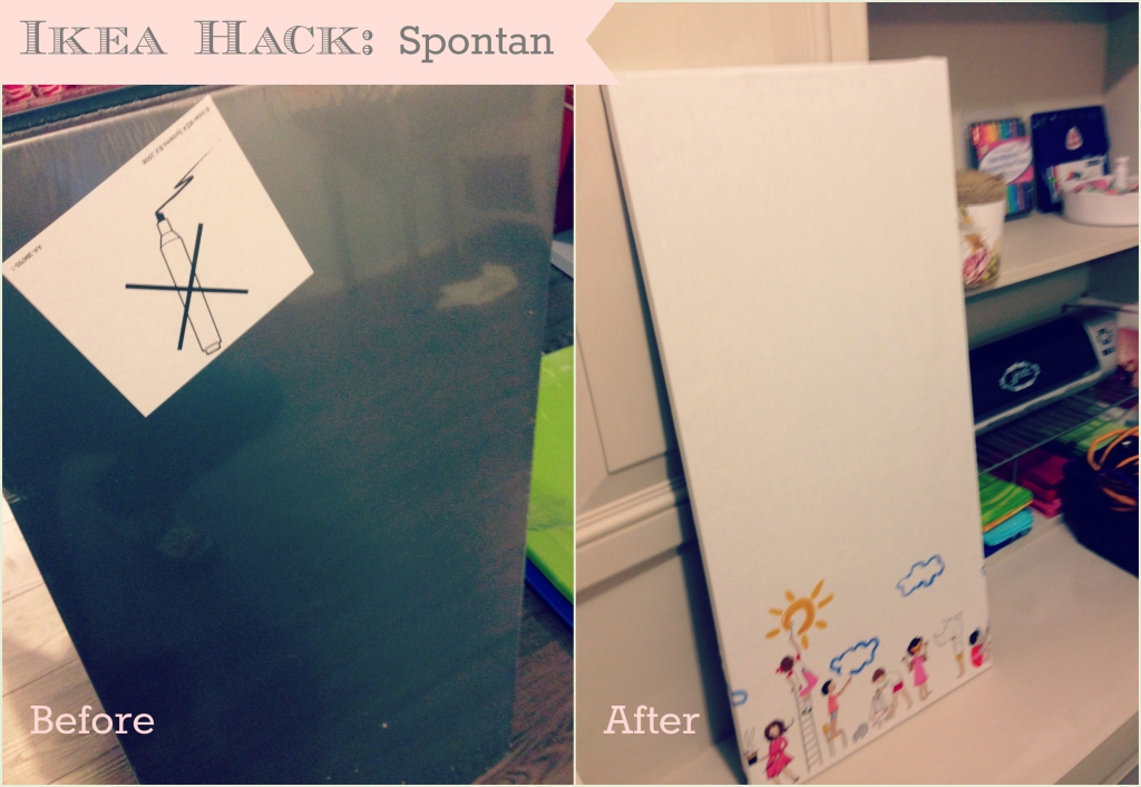Ikea hack spotan tryon a homemade life for Magnetic board for kids ikea