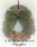 Burlap Wreath, How to make a burlap wreath